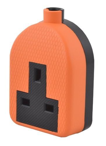 13amp Single Rubber Socket Heavy Duty Orange